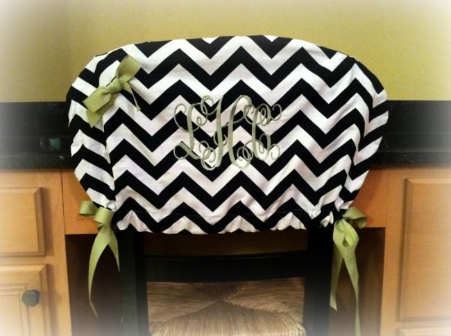 Monogrammed Chair Cover