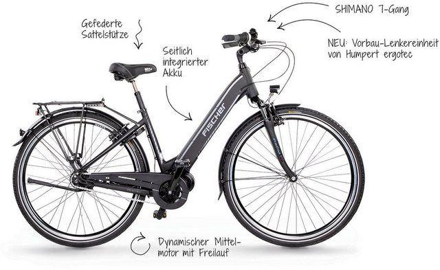 E Bike Cita 3 1i City E Bike 7 Gang Shimano Nexus Schaltwerk Nabenschaltung Mittelmotor 250 W In 2020 Bicycle