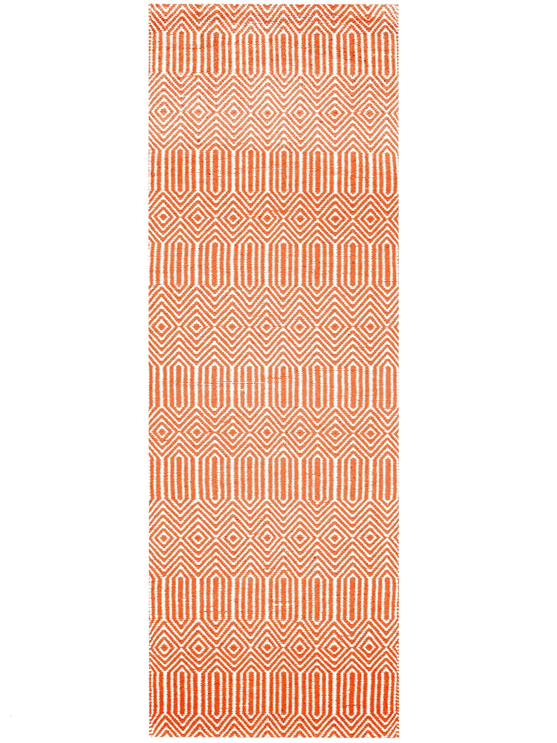 Tapis De Couloir Sloan Rouge Graphic Patterns Rugs Cotton Weaving