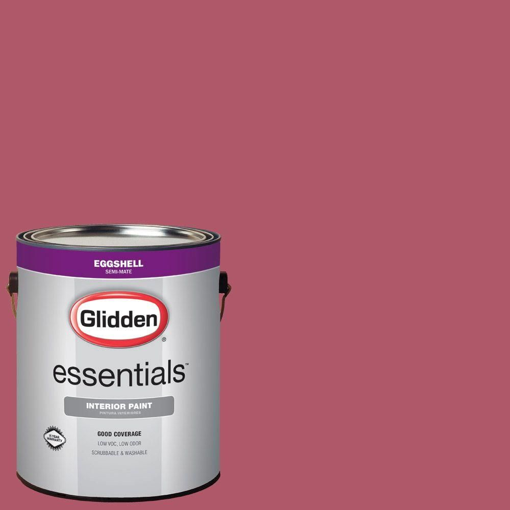Glidden Essentials 1 Gal Hdgr20d Canterbury Lane Red Eggshell Interior Paint Interior Paint Exterior Paint Flat Interior