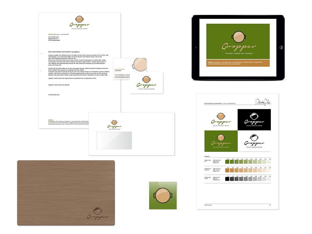 Exklusives Logo- und Corporate-Design für einen Koch, Kochschule ... | {Kochschule logo 22}