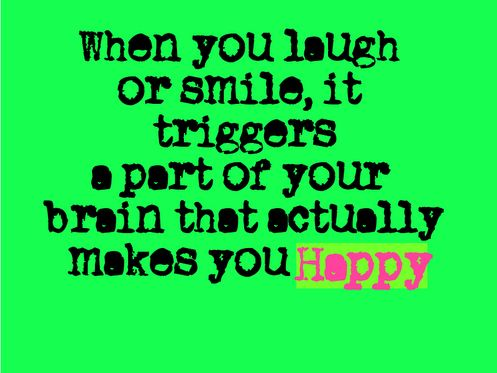 When you laugh or smile...     ::)