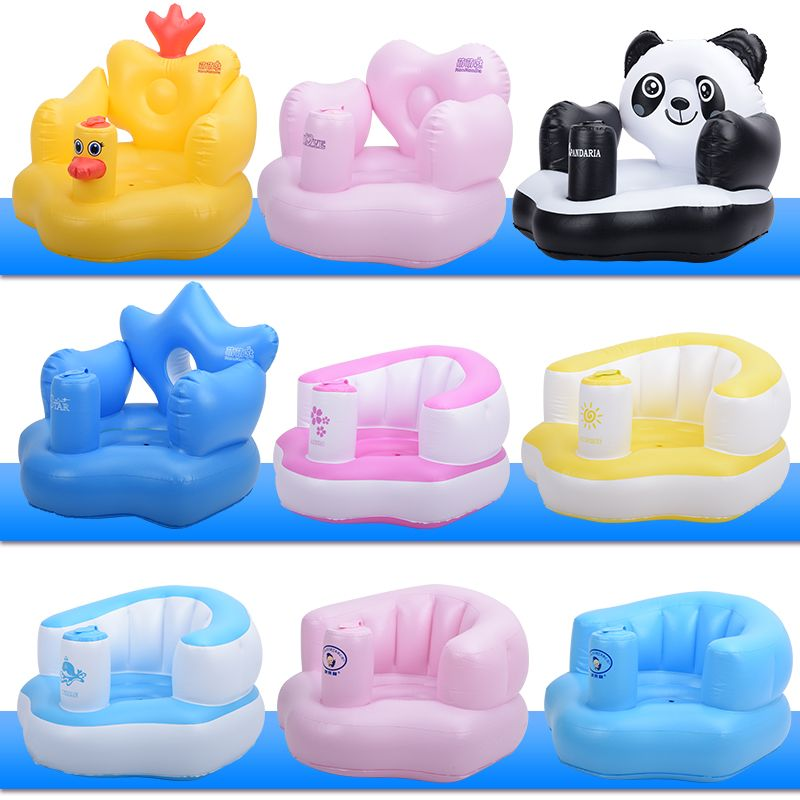 Inflatable Chair Stool Hanging Ceiling Free Shipp Baby Learning Seat Sofa Child Portable Bath Thickening Et002