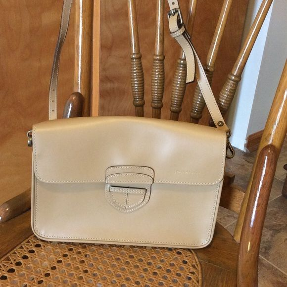 Holiday Dimoni Cross Body Or Clutch Tan Shoulder Bag Never Used Two Inside Sections With Pocket Magnetic Close In Perfect Condition Bags