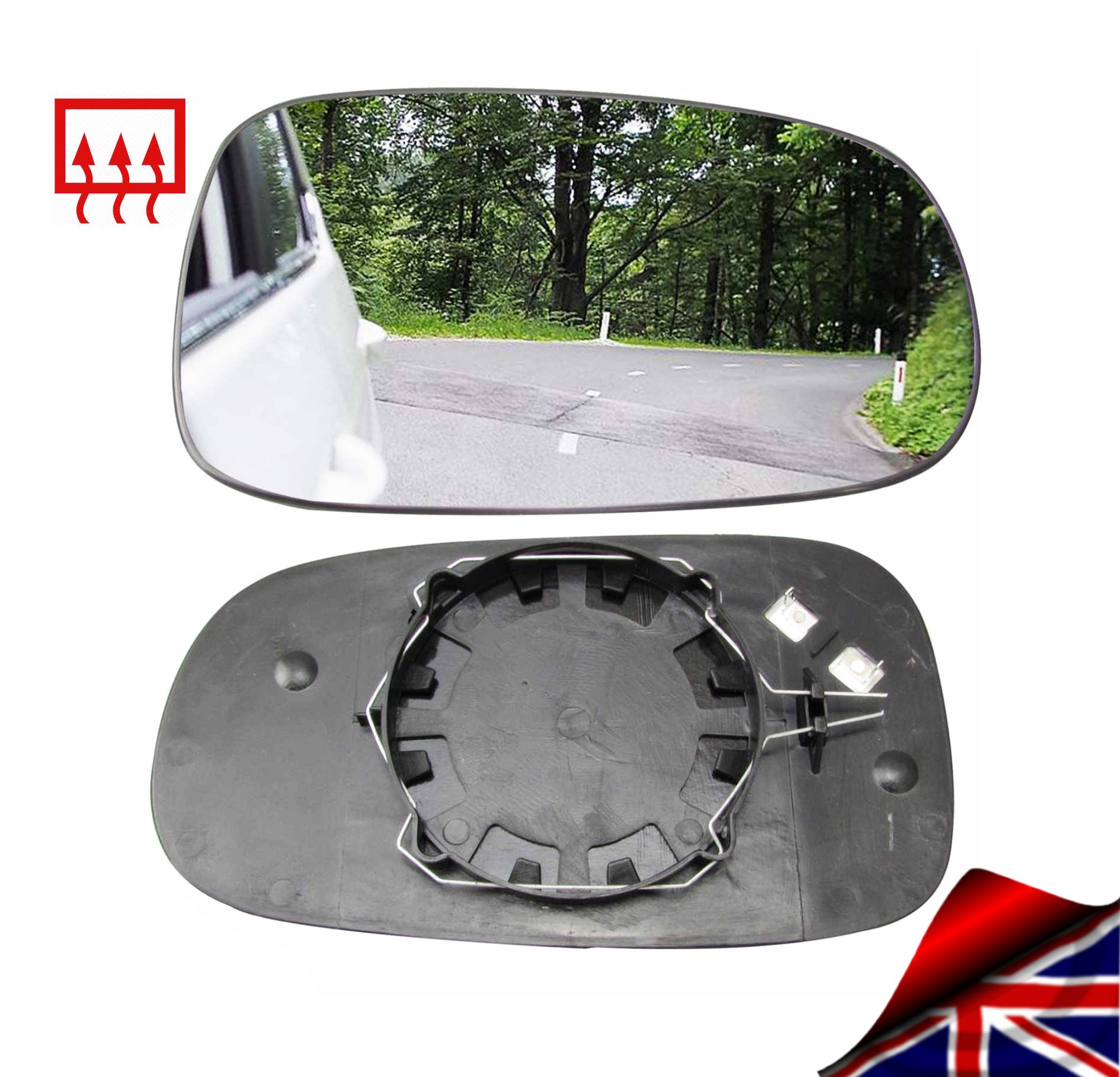 Details About Wing Mirror Glass Saab 9 3 93 2003 10 Heated Right Convex Driver Offside Clip On Wing Mirrors Glass Mirror Saab 9 3