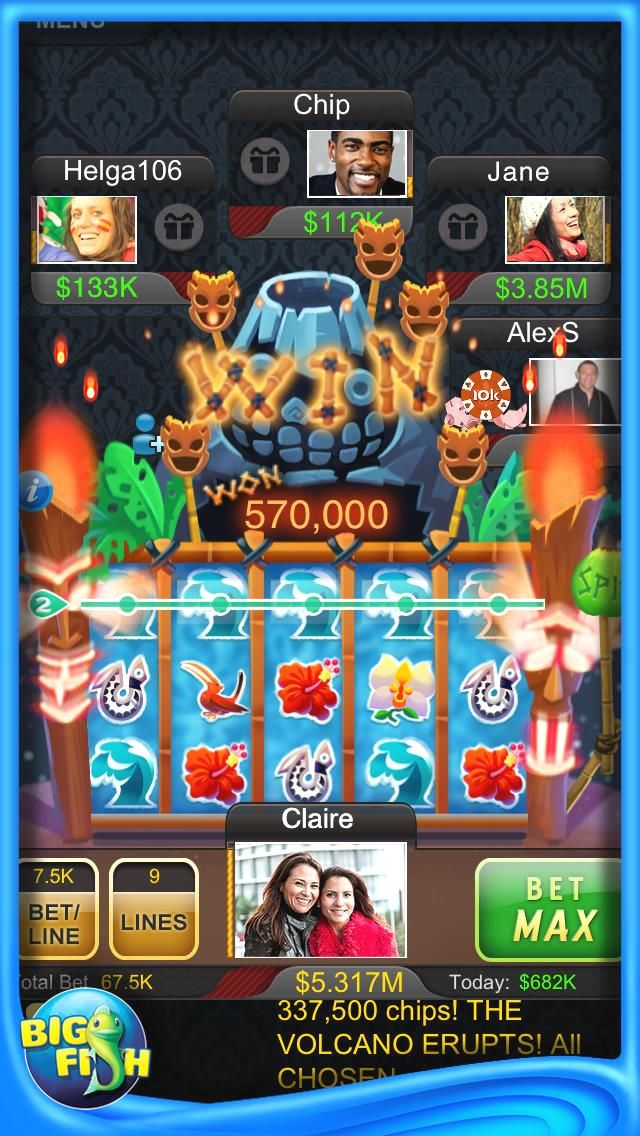 ) Big Fish Casino New players get 100,000 FREE BONUS