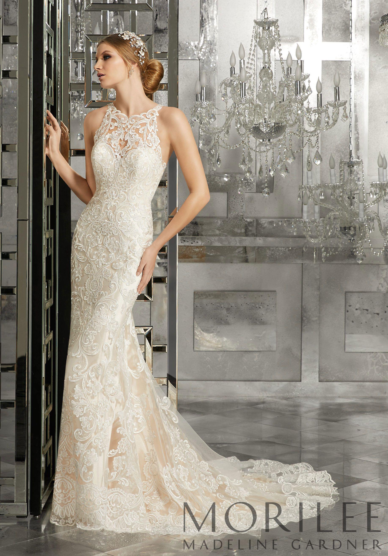 Mimi Wedding Dress Morilee Mori Lee Wedding Dress Fit And Flare Wedding Dress Wedding Dress Styles [ 2630 x 1834 Pixel ]