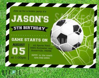 custom soccer birthday invitation soccer themed party boy - Soccer Party Invitations