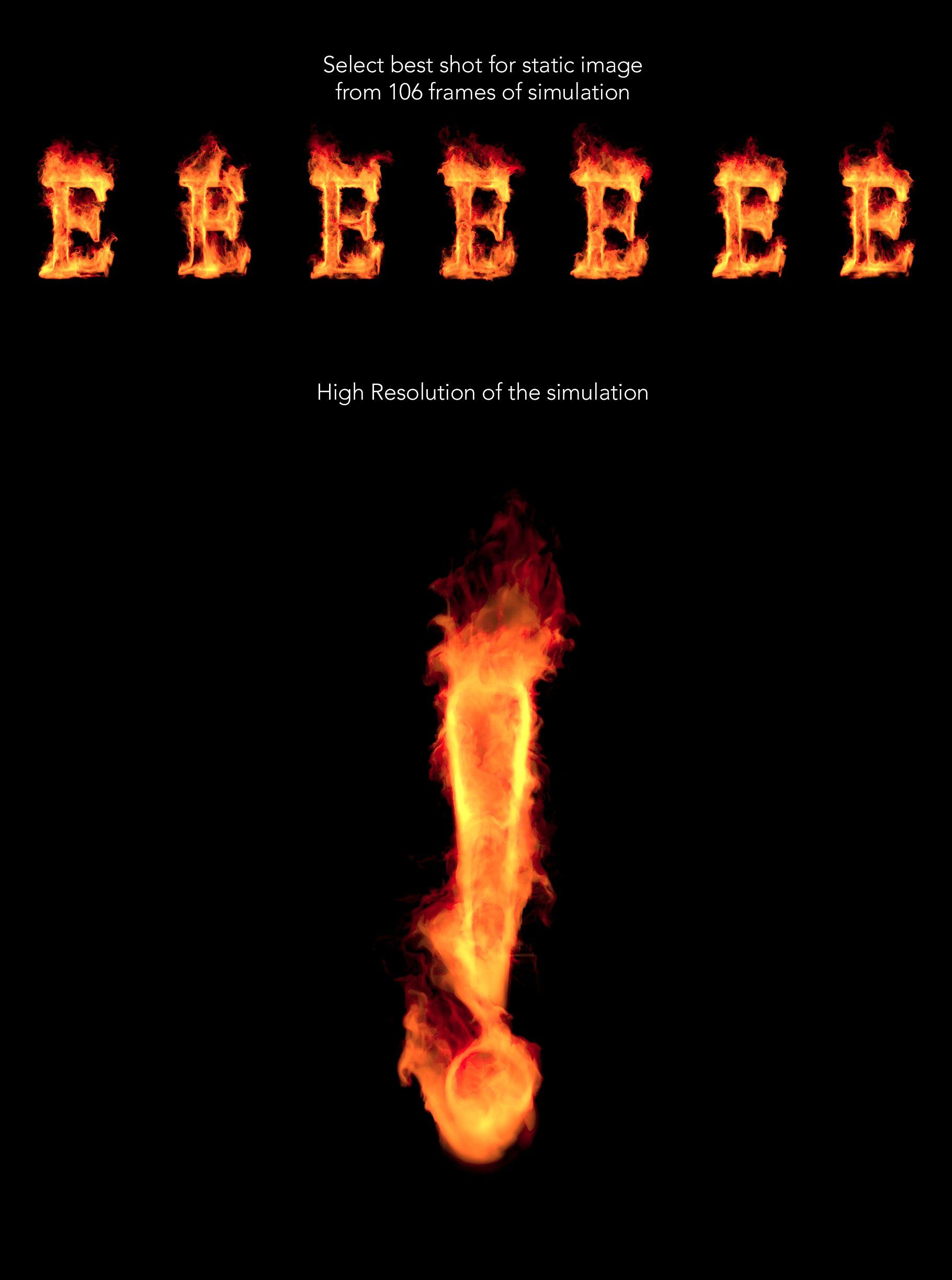 Fire Font Animation for Fire font,