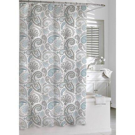 Paisley Shower Curtain Blue Gray