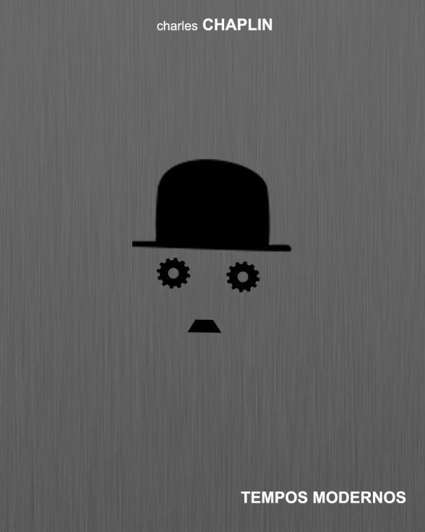 Poster Minimalista Do Filme Tempos Modernos De Charles Chaplin