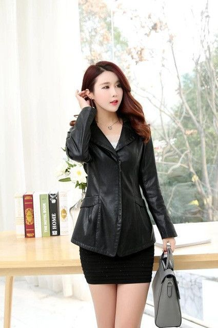 28bb2e4e1 another chance 1c62c cf922 middle aged ladies leather jacket spring ...