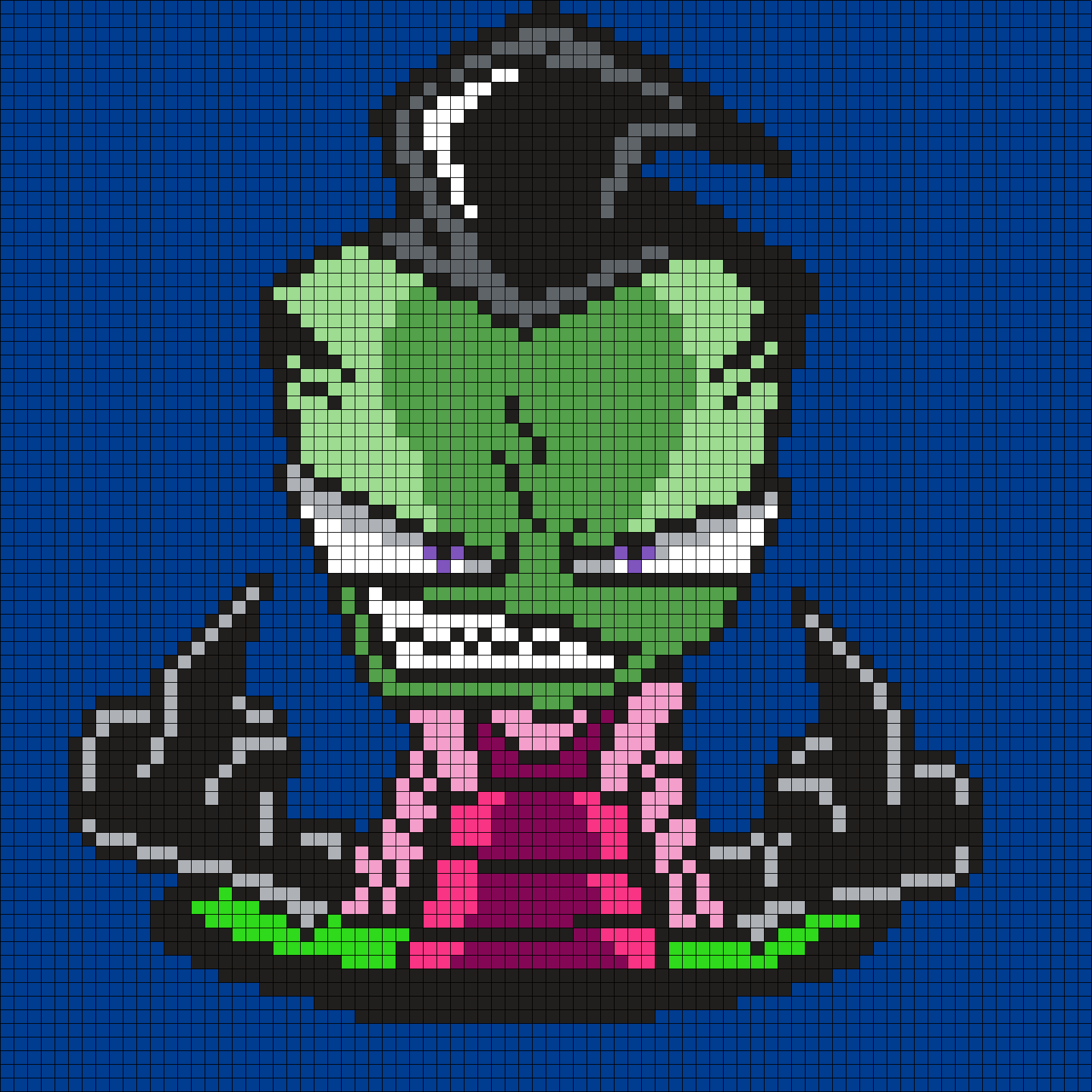 F you zim from invader zim square grid pattern man in the zim from invader zim square grid pattern bankloansurffo Image collections
