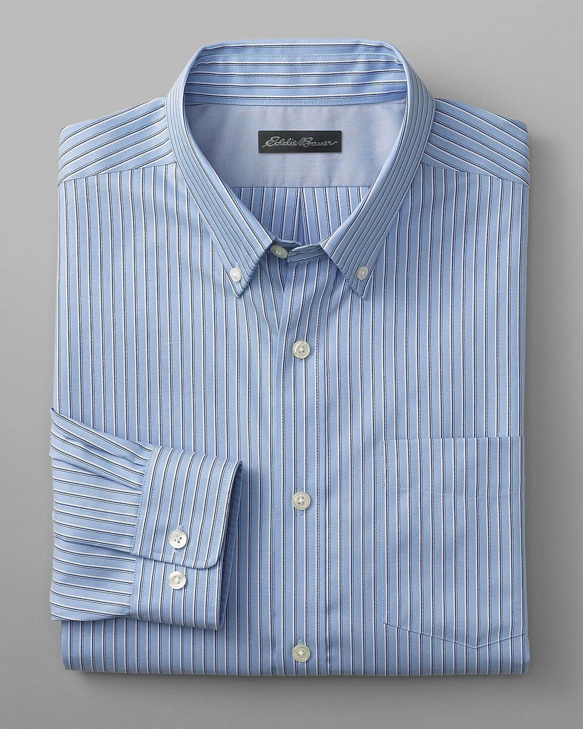 3727c479ab Men s Wrinkle-Free Classic Fit Pinpoint Oxford Shirt - Blues ...