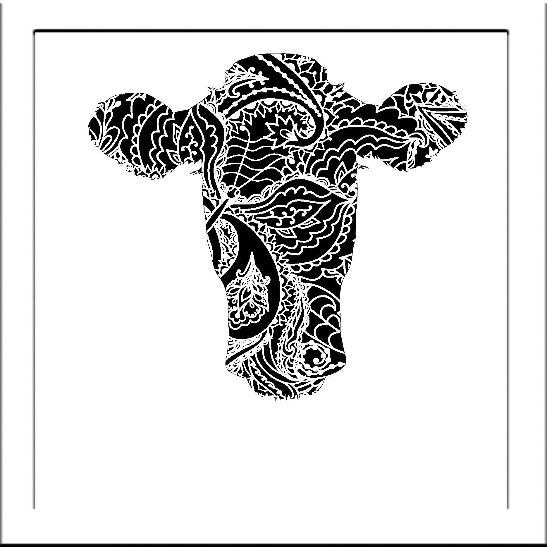 Cow Head Papercut Template Bull Cows Svg Paper Cut Templates