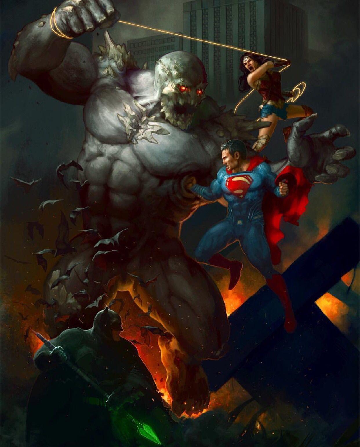 trinity vs doomsday dc pinterest superman dc comics