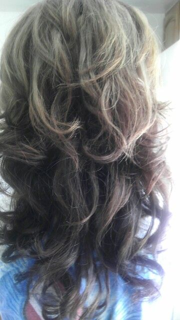 New Hair Light Brown On Top And Black Dark Brown On The Bottom