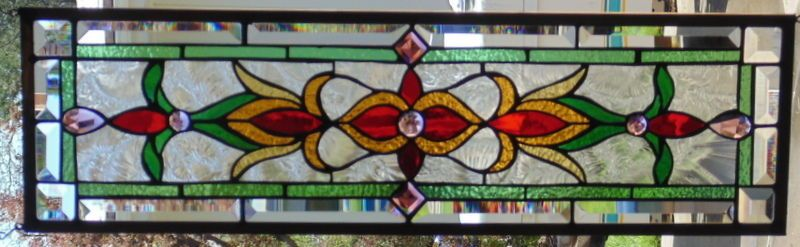 Stained Gl Window Hanging 28 X 8 1 4