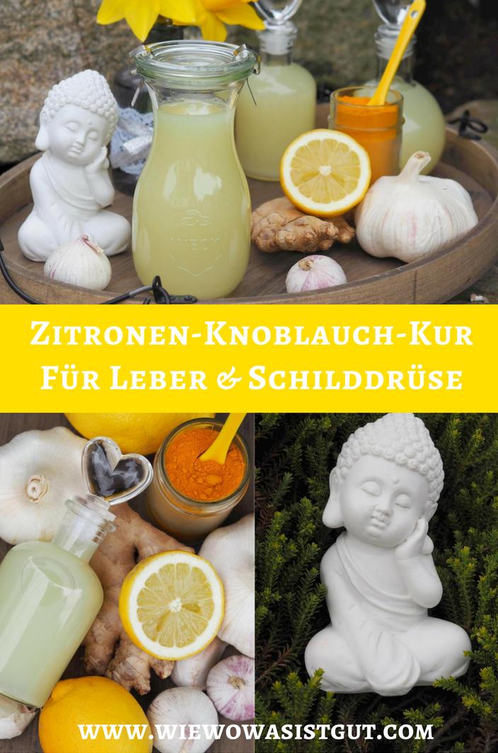Zitrone knoblauch ingwer kur