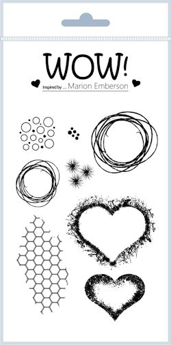 Hearts & Twine (By Marion Emberson) - Clear Stamp Set *SHIPPING IN MID FEB 2017*