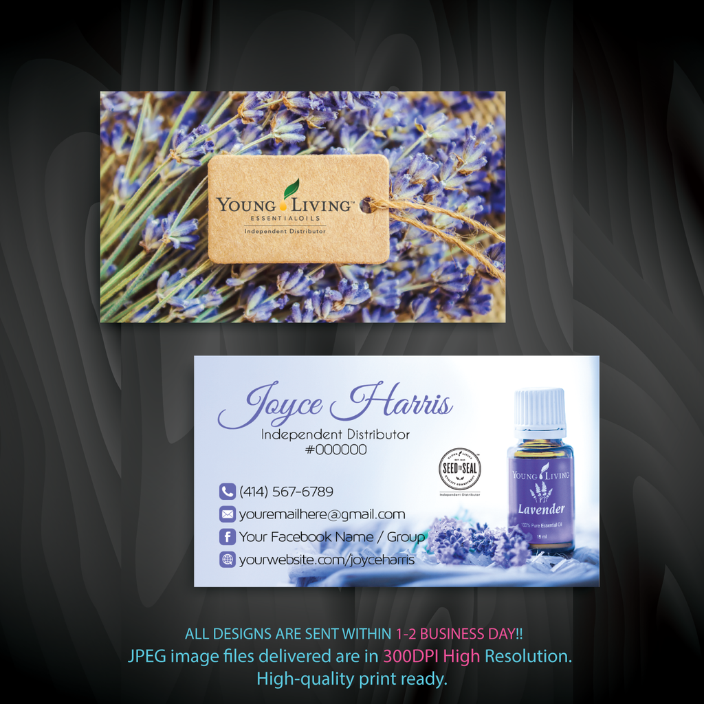 Young Living Business Card, Personalized Young Living Cards