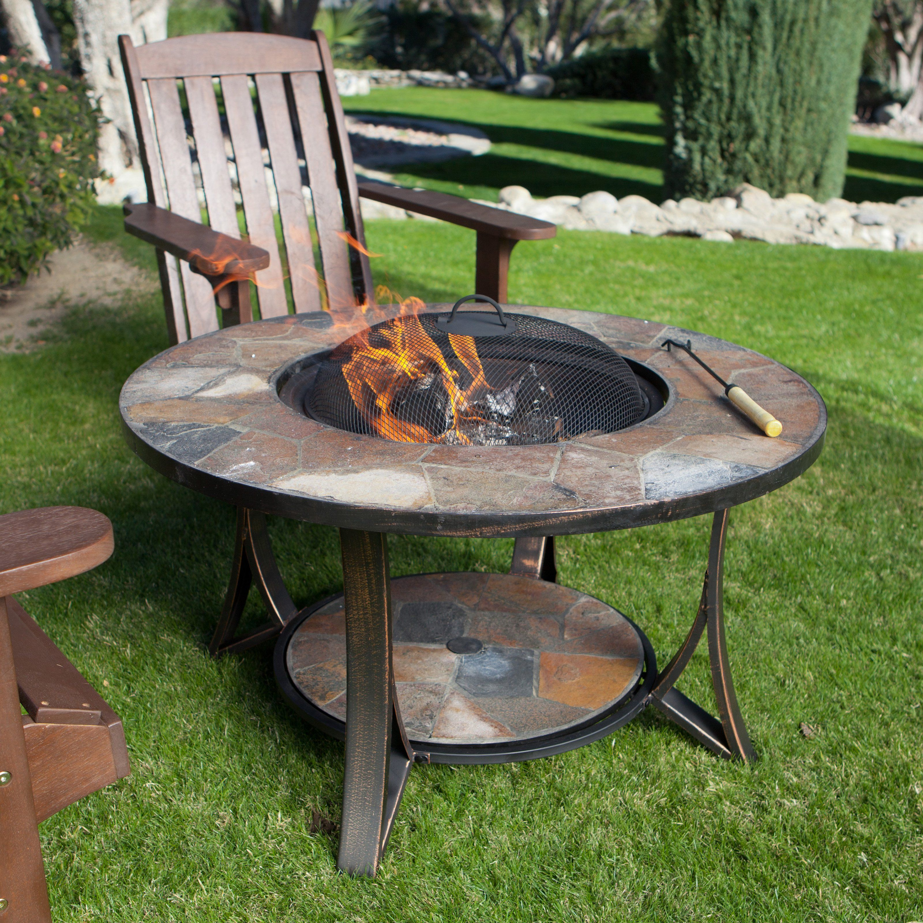 Arizona sands ii fire pit table with free cover the arizona sands ii round fire pits table has been redesigned to make the table higher and create a
