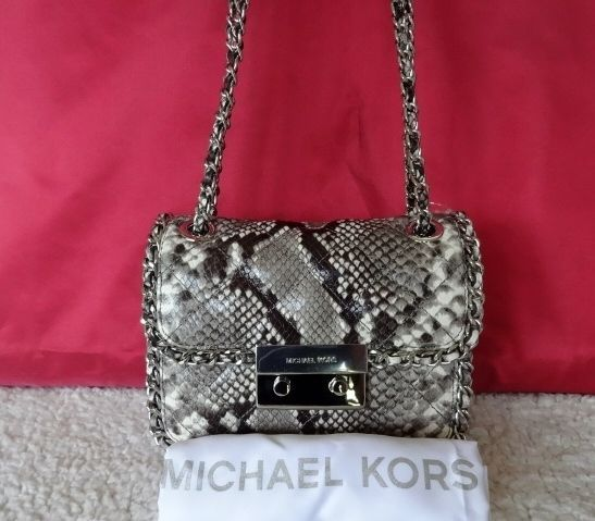 MICHAEL KORS CARINE MEDIUM SNAKE EMBOSSED Crossbody HANDBAG Shoulder Bag  NWT  MichaelKors  MessengerCrossBodyPurseShoulderBag 4e9a535ac5260