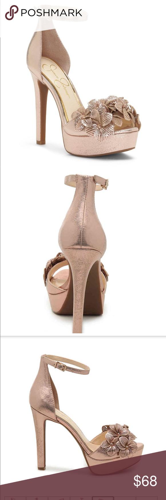 3eb7d28f442 NWT Mayfaran 3D Laser Flowers Platform Sandals Beautiful