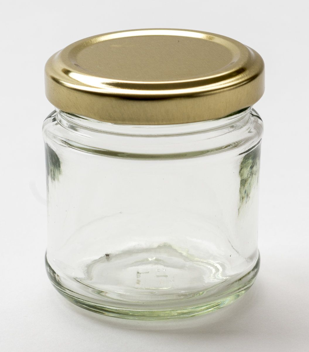 Nutley\'s 100ml Small Glass Jam Jars - Gold Lids. Perfect for home ...