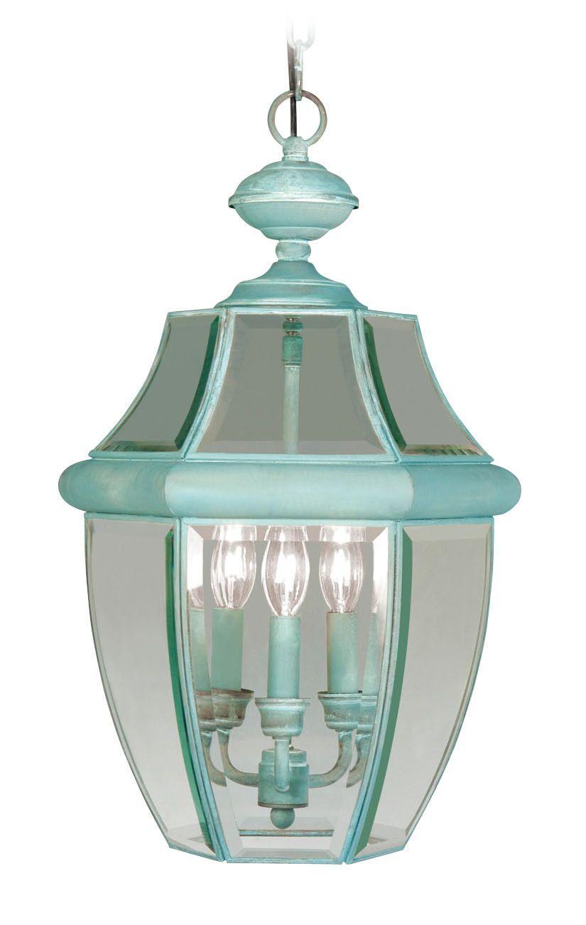Livex Lighting 2355-06 Monterey Outdoor Pendant Verdigris   Pendants ...