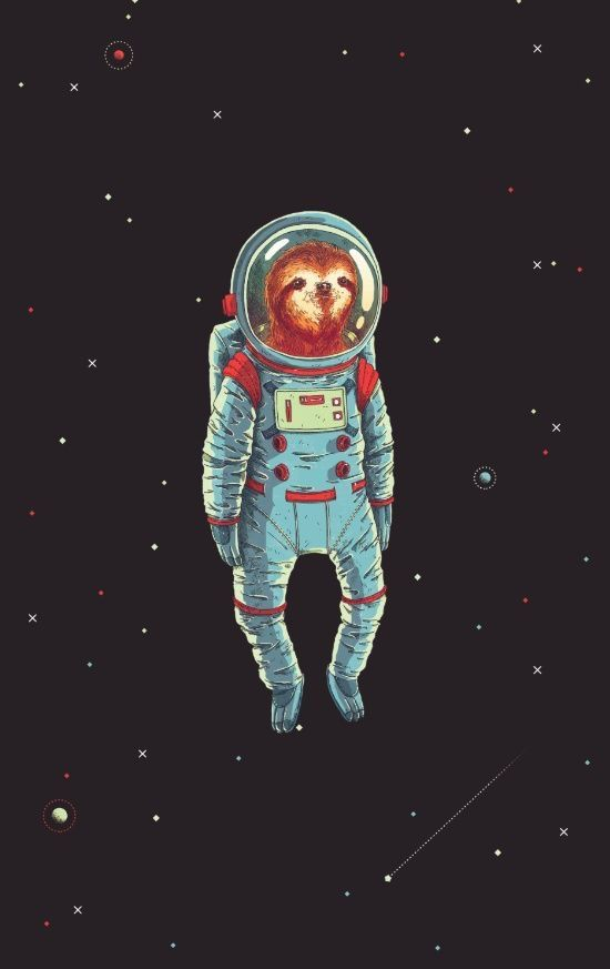 Slothed In Space Artworks Illustration art Cute