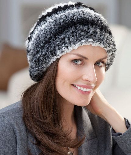 Quick & Easy Hat Knitting Pattern | Red Heart | Knit and Crochet ...