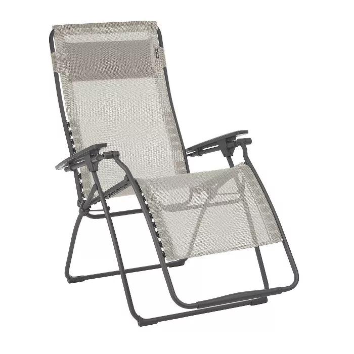 Lafuma Futura Xl Zero Gravity Outdoor Steel Framed Lawn Recliner Chair Seigle In 2020 Zero Gravity Recliner Lawn Chairs Outdoor Lawn Chairs
