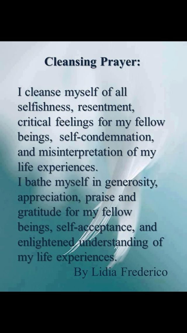 Cleansing Prayer Forgiveness Cleansing Prayer Words Affirmations
