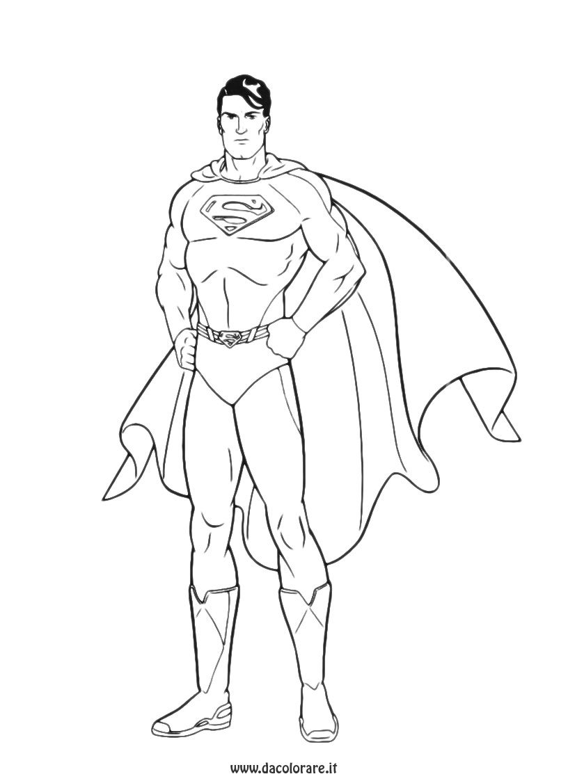 Disegni Superman Da Colorare 15 Jpg 816 1123 Boyama Sayfalari Ucretsiz Yazdirilabilir Supermen