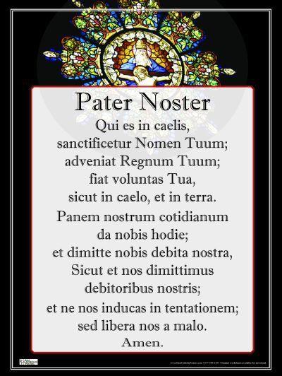 Risultati immagini per Pater Noster