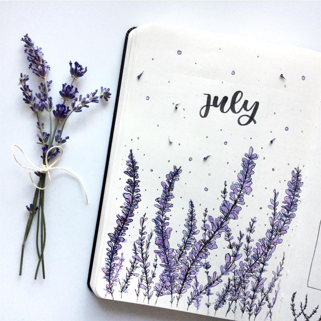 so many pretty July covers! this is by @stephstudies__ (recreated based on work by @amandarachdoodles!) ☺️ // Use the tag #bulletjournalss… #halloweenbulletjournal