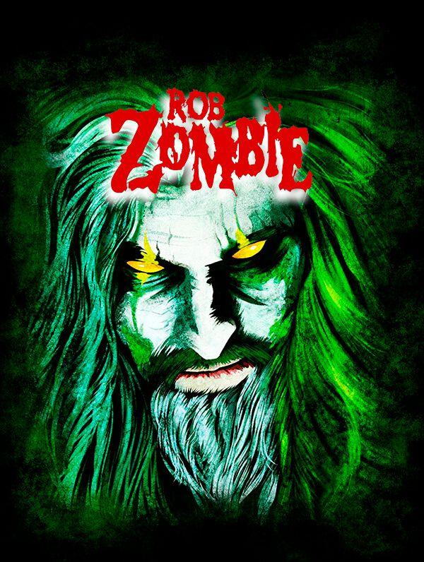 Rob Zombie Rob Zombie Art Rock Band Posters Rob Zombie
