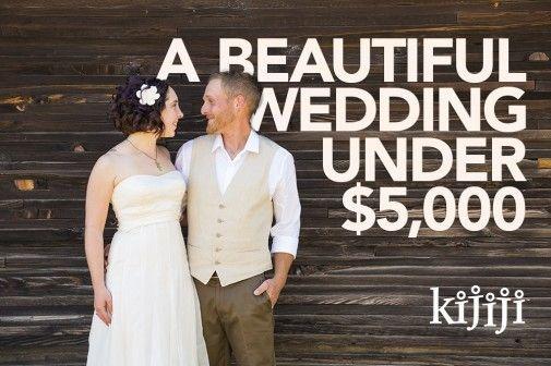How to Have a Beautiful Wedding Under $5000 | Backyard wedding ...