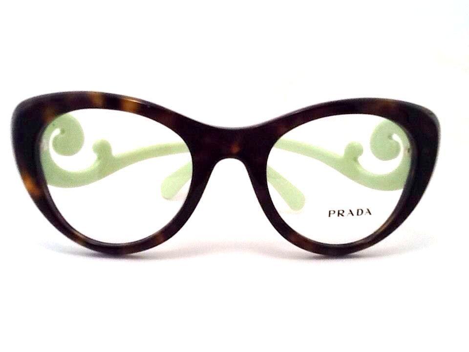 5bfa7564f2 New Prada Eyeglasses SPR 06Q Brown green 2AU-1O1 Authentic 51mm  Prada
