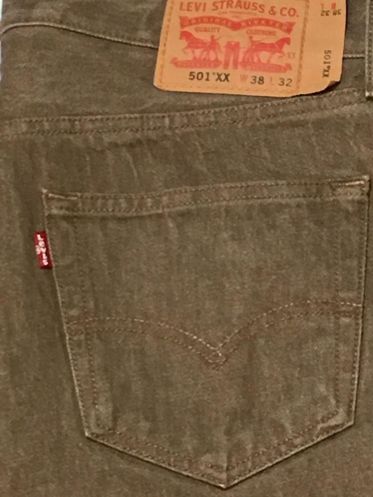 b8303842f5a Levis 501 XX Jeans Snug 38 x 30.5 Button Fly Straight Leg Khaki Shrink to  Fit #LeviStrauss #StraightLeg