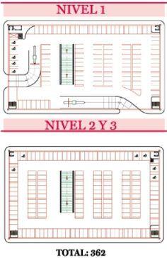 Planos de estacionamientos con medidas buscar con google for Planta arquitectonica con medidas