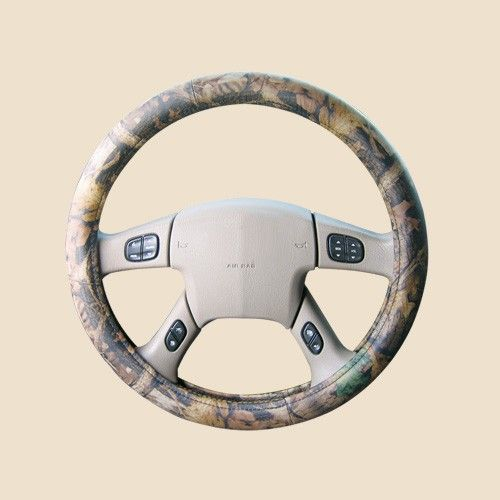 Leather Camo Steering Wheel Cover Timber Pattern Sale Steering Wheel Cover Wheel Cover Steering Wheel