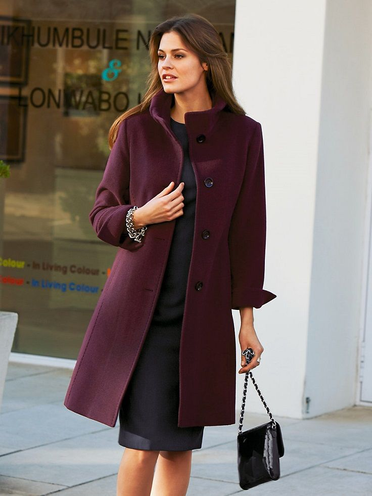 bd76f66eb11 Top 10 Ways To Wear Burgundy Color In Winter | coats | Winter tops ...