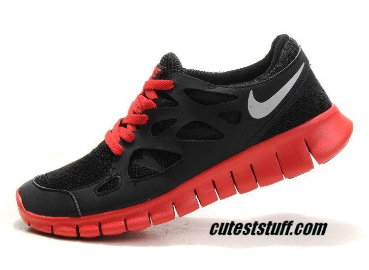 Hombre Nike Free Free Free Run 2 Negro Reflective Plata Challenge Rojo Zapatos c0de6e