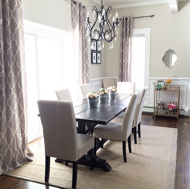 Dining Room/ #target rug/ #anawhite dining room table/ # ...