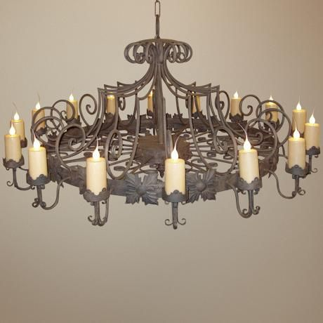Laura lee madrid 16 light large candle chandelier aloadofball Image collections