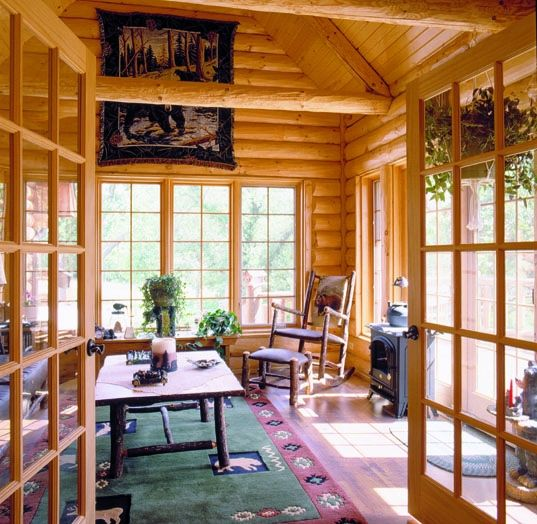 Log Home Photos Sunrooms Lofts Amp Office Expedition