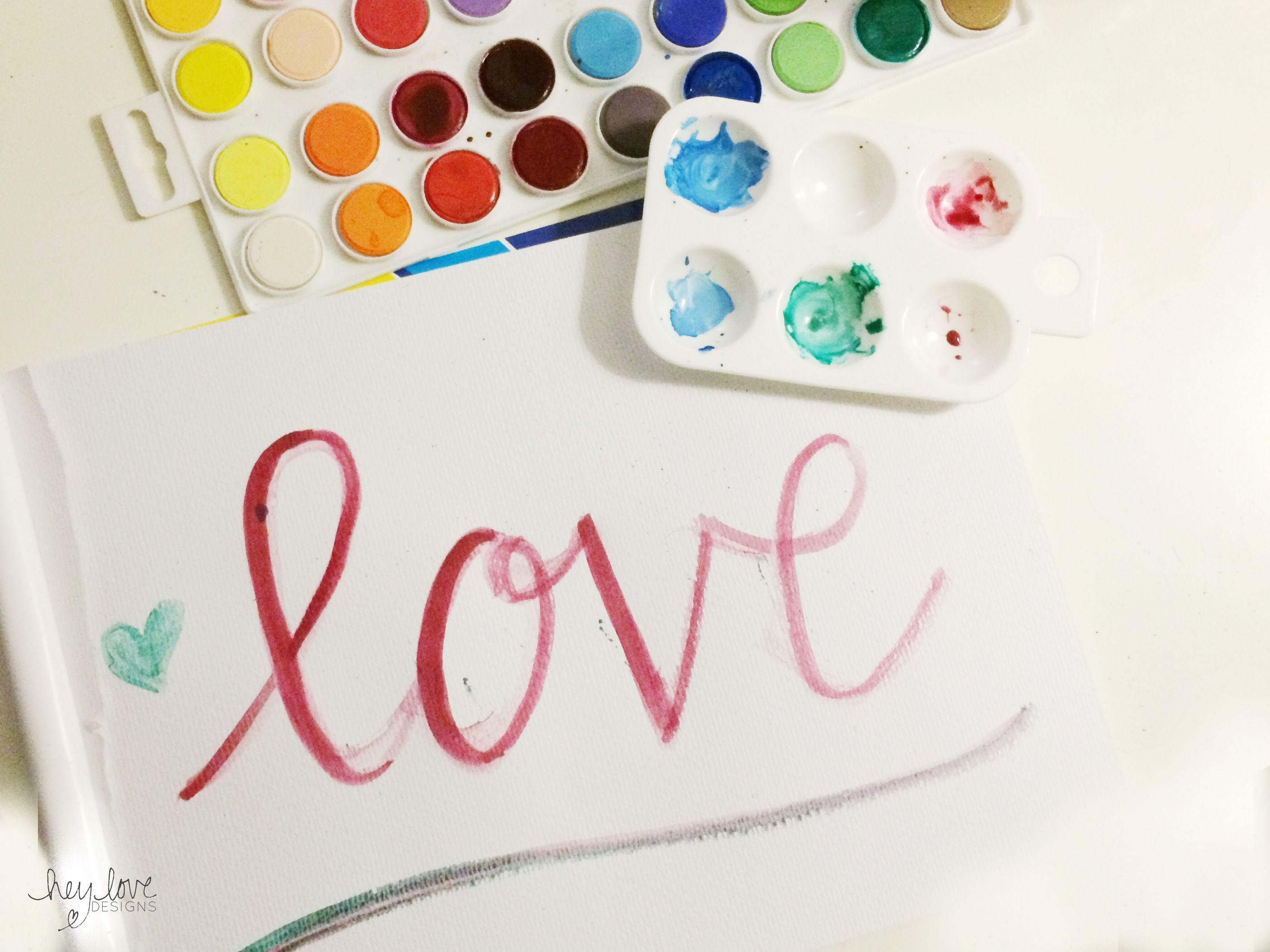 Calligraphy week watercolor brush calligraphy