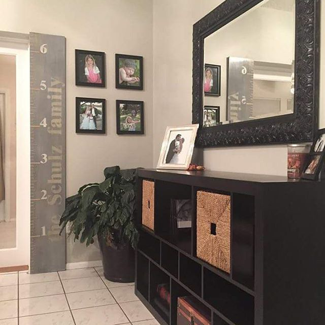 I love it when clients post pics of their growth charts after they hang it! #happyclient #growthchart #custommade #homeaccessories #homeaccents #family #familia #woodengrowthchart #islandgirldesignz